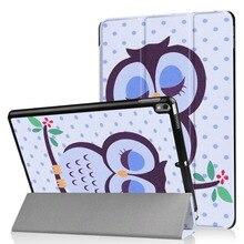 """Nueva impresión de la Caja Del Cuero Del Patrón Para el ipad de Apple pro 10.5 """"2017 Cubierta Funda Elegante de la Tableta Soporte de Protección de Shell"""
