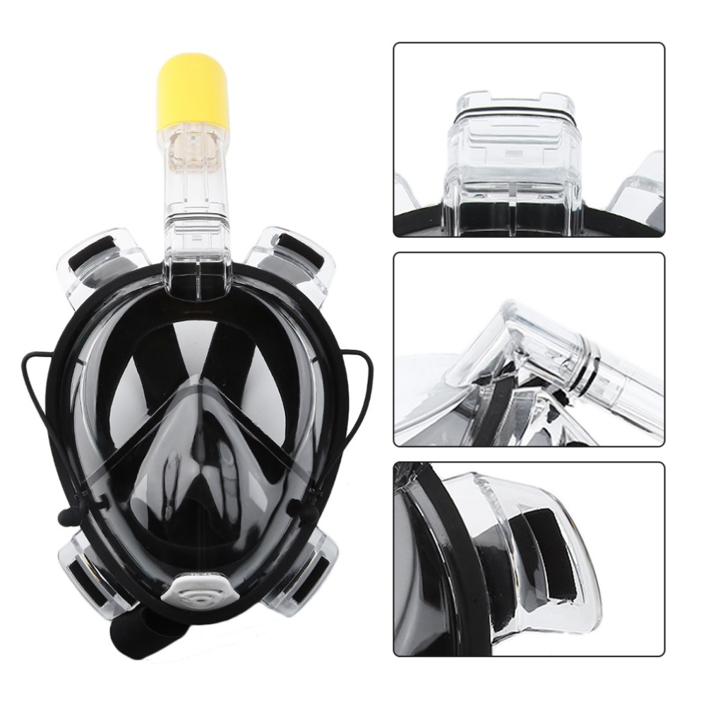 TSAI 2018 R10 Underwater Scuba Anti Fog Full Face Diving Mask Snorkeling Set Respiratory masks Safe and waterproof Diving Mask
