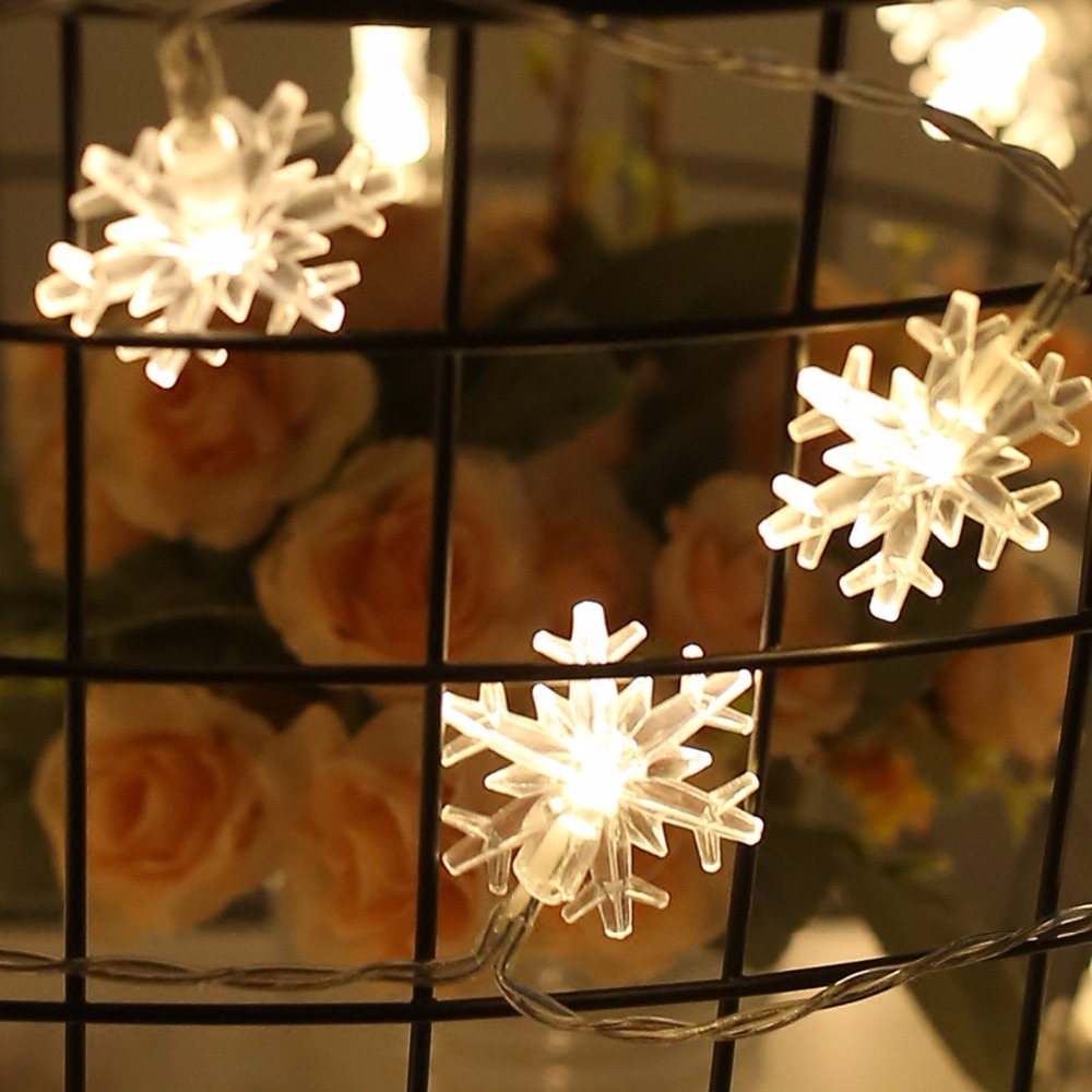 Snowflake String Light String Outdoor Waterproof House Decorative Light String Interior Decoration,Decorative Snowflake Lights
