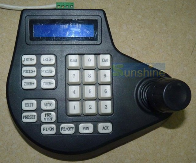 Free Shipping CCTV Surveillance Controller Keyboard for High Speed Dome PTZ Camera
