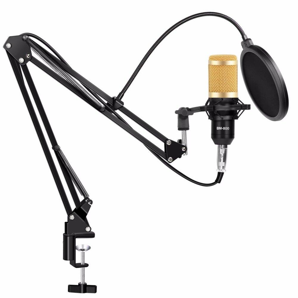Profesional bm 800 estudio micrófono bm-800 micrófono de condensador Kits paquete micrófono de Karaoke bm 800 para computadora Mikrofon - 5