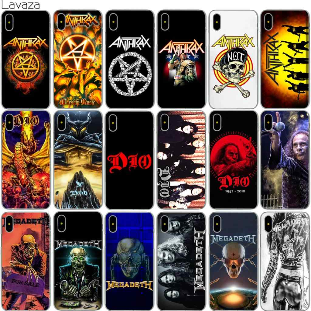 Lavaza Anthrax Dio Rock Band Case for iPhone X 8 7 6 6S Plus 5 5S SE