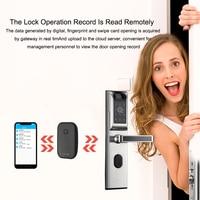 WiFi Fingerprint Door Lock Electronic Door Lock Intelligent APP Bluetooth Biometric Smart Door Lock Home Apartment Anti theft