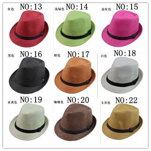 eb504b5cb43bb summer mens womens fedora stripe band Cuban style upturn short brim hat  wholesale free shipping