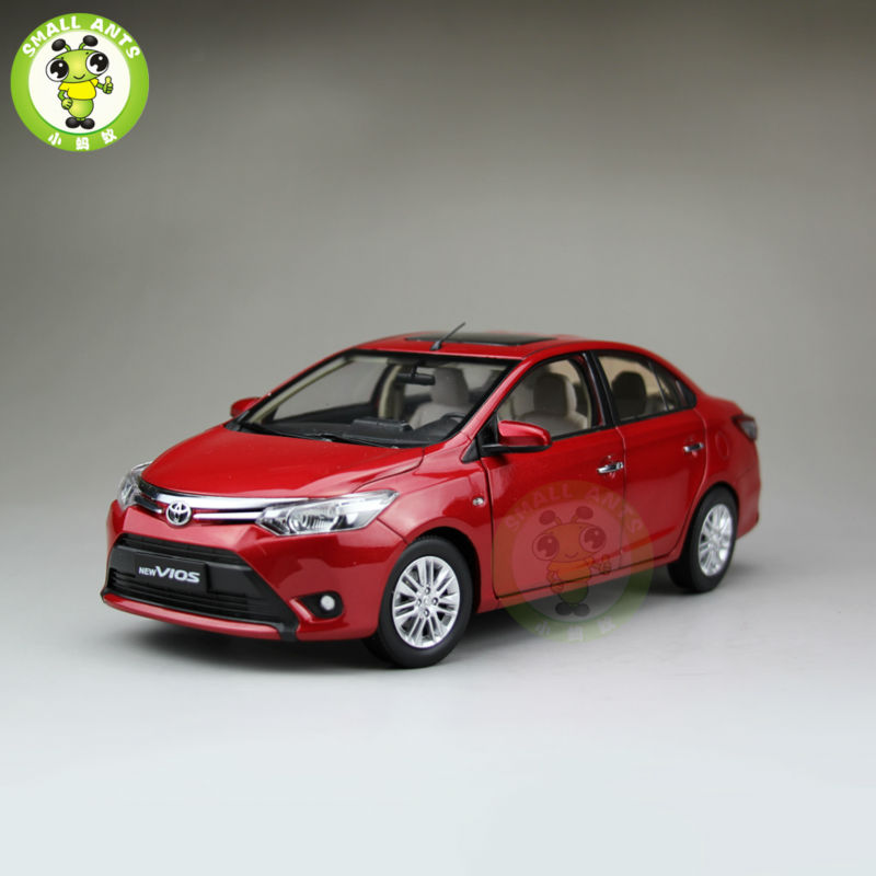 ФОТО 1:18 Toyota New Vios Diecast Car Model Red Color