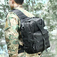 Camouflage Military MOLLE Cross Body Bag Shockproof Assault IPAD Single Shoulder Package CS Airsoft Combat Pack