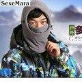 2016 Nueva Edición de Invierno de Lana Gorros Sombreros para Hombres rentable Cráneo Snowboard Neck Warmer