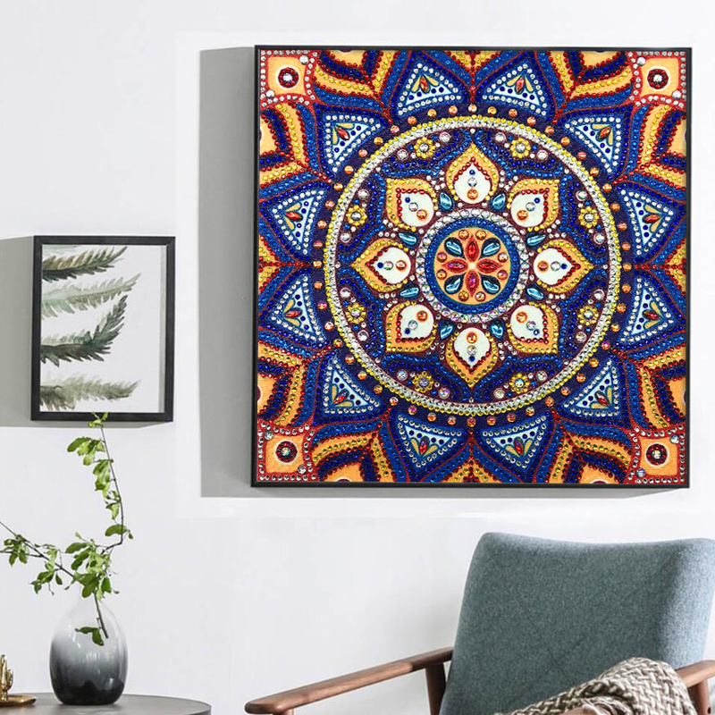RUBOS DIY 5D Diamond Embroidery Mandala Sun Triptych Diamond Painting Multi Picture Rhinestones Pearl Big Mosaic Sale Wall Decor (51)