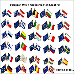 Adaptable European Union Friendship Flag Badge Lapel Pin Pin 5 Pcs A Lot Badges