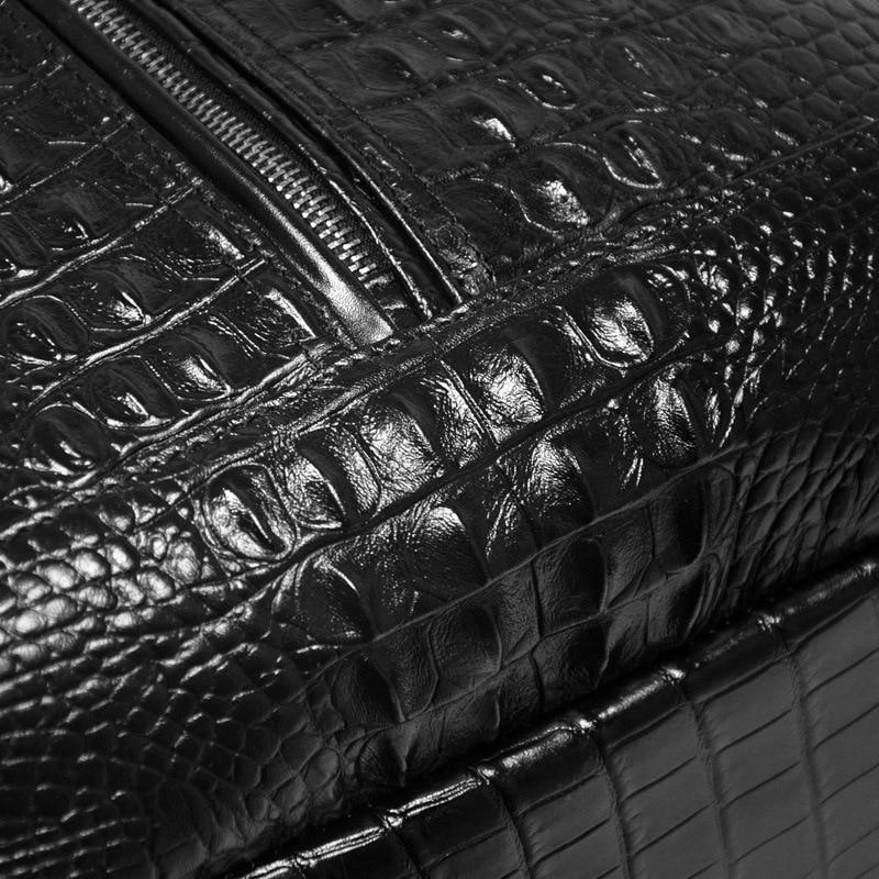 Motif Dos Première Grande En À Ordinateur Cuir Capacité Sac Loisirs Black Couche Coréen Mode Vache De Crocodile Hommes Portable ff4rPBZ