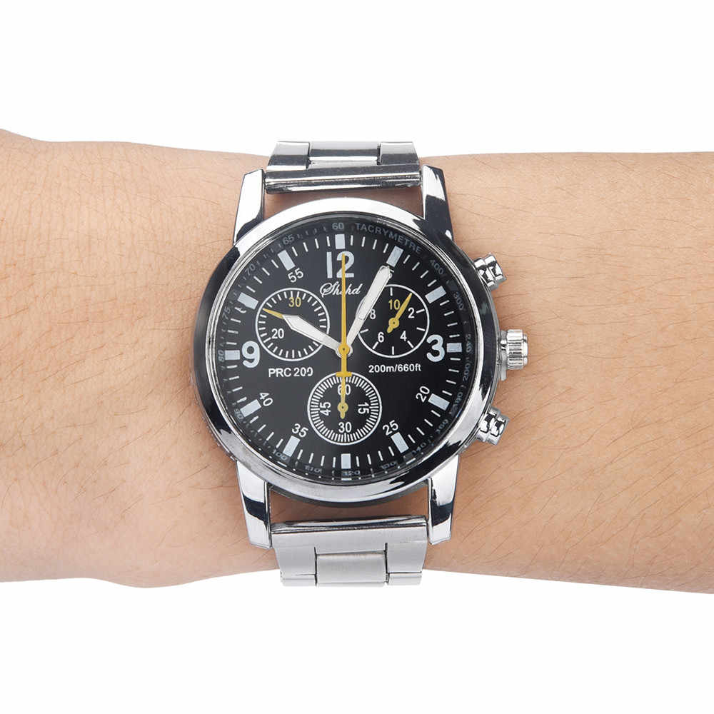 2019 relogio masculino Fashion Neutral watches men Quartz Analog Wristwatches Steel Band Clock Business reloj hombre saat Watch