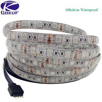 SMD5050 RGB tira de led impermeable 5M 300LED DC 12V RGBW RGBWW Fita LED tiras de luz de neón Flexible cinta luz de ledstrip