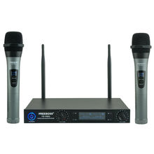 Freeboss FB VM02 Professional Microphones Dual Channel Handhelds Metal Shell Mic Karaoke System Family Party Wireless Microphone