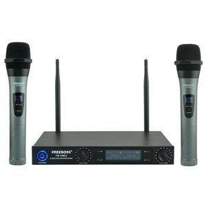 Image 1 - Freeboss FB VM02 Professionelle Mikrofone Dual Kanal Handhelds Metall Shell Mic Karaoke System Familie Party Drahtlose Mikrofon