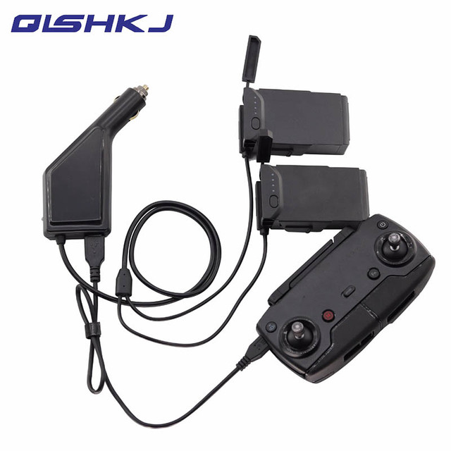 3-in-1 Mavic Air Car Charger Accessories Remote Control &2 Pcs Battery Charger for DJI Mavic Air transmitter Controller Charger