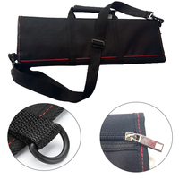 Durable 12 Pocket Chef Knife Bag Kitchen Cooking Storage Portable Professional Large Capacity Roll Carry Case Strap Accessories