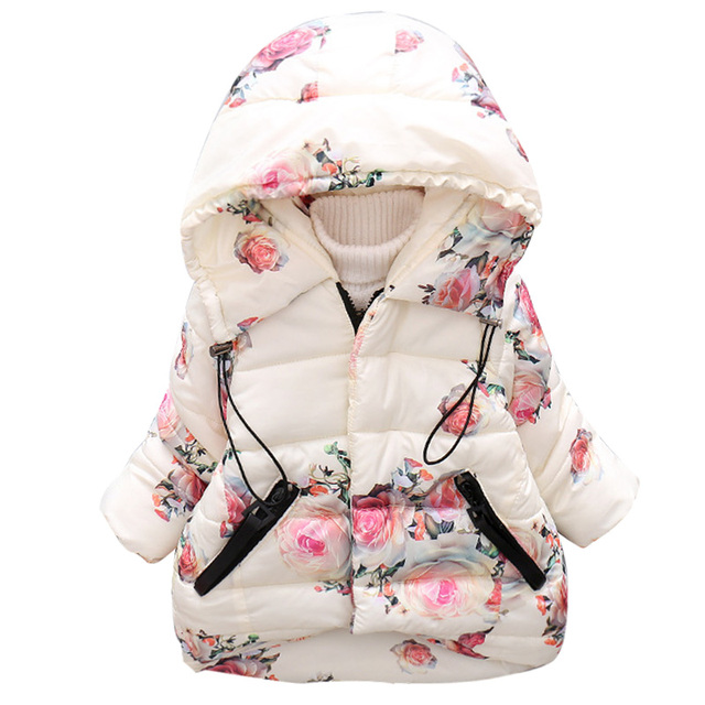 Winter Baby Girl Coats Jackets Infant Outerwear Cotton Cartoon Hooded Coats For Girls Clothes Down Jackets Baby Coats Clothing