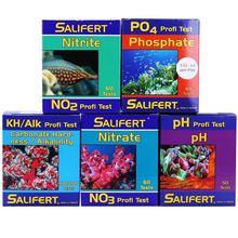 اختبار حوض أسماك مرجانية لمياه البحر من ساليفيرت CA MG KH NO3 PO4 NO2 PH K SR B دليل إنجليزي