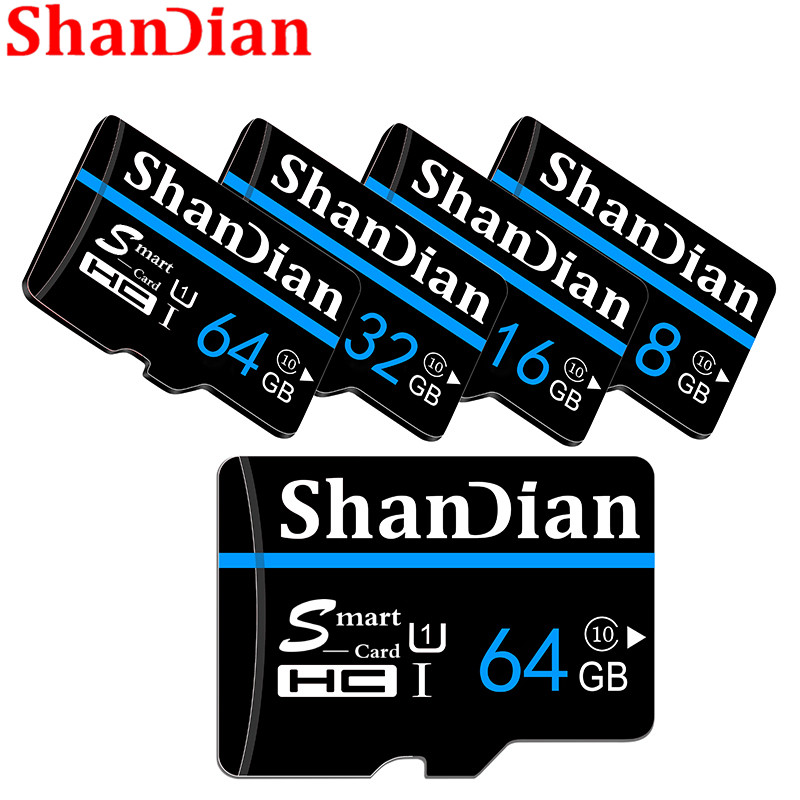 New Arrival Original wansenda TF Smart sd Card Transflash Memory Card 4g 8g 16g 32g 64g for android system Free Adapter