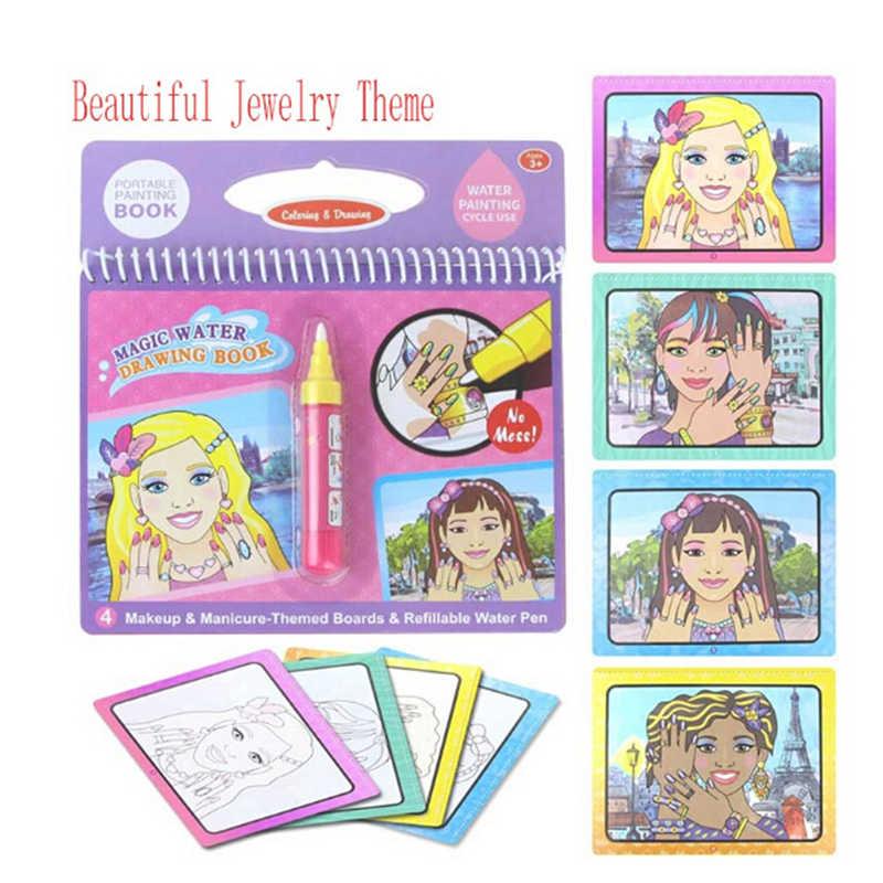 1Set di Magic Water Disegno Libro Regalo Di Compleanno Montessori Libro Da Colorare Doodle & Magic Pen Pittura Tavolo Da Disegno Per I Bambini giocattoli