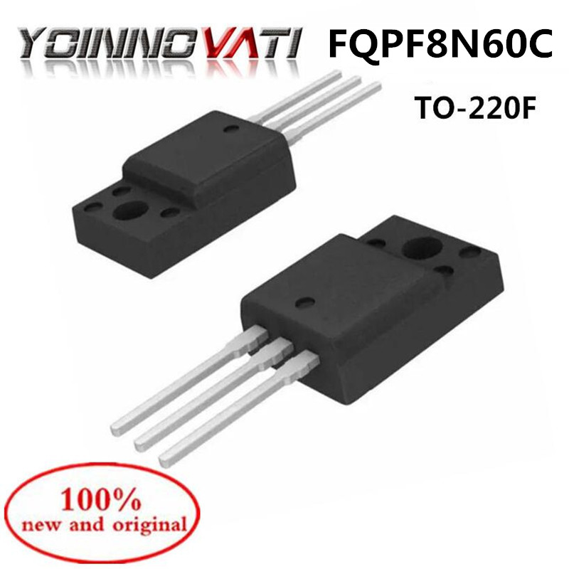 10PCS FQPF8N60C 8N60 TO-220 N channel MOS FET 600V 7.5A 100% new and original
