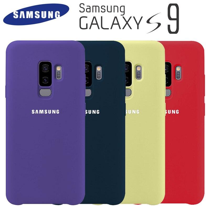 Samsung S9 caso Original de alta calidad de silicona suave Protector caso Samsung Galaxy S9 Plus caso Galaxy S9 S9 + silicona cubierta posterior