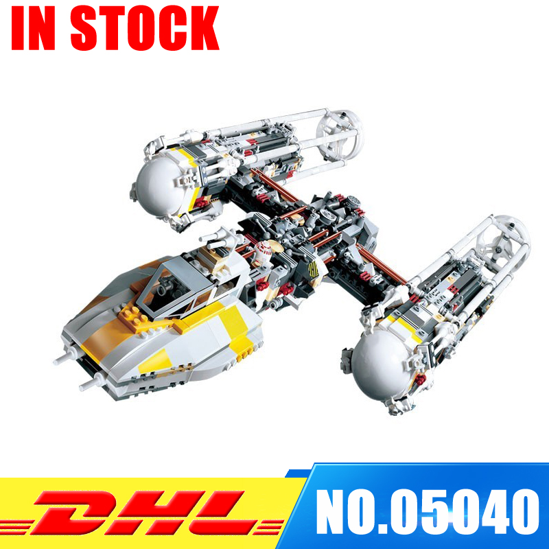 In Stock Lepin 05040  Y-wing Attack Starfighter Building Block Assembled brick UCS Series Funny Toys Compatible with 1013 in stock lepin 05040 y wing attack starfighter building block assembled brick ucs series funny toys compatible with 1013