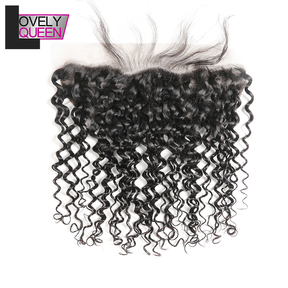 Brazilian Water Hair 13x4 Lace Frontal 100% Human Hair Remy Water Wave Frontal Closure Pre Plucked With Baby Hair For Women