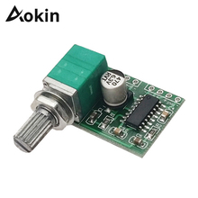Aokin PAM8403 Мини DC 5 В 2 канала USB цифровой Аудио платы модуля усилителя 2X3 Вт объем Управление с потенциометра Переключатель