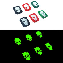 PVC Patch Skull Morale Tactical Emblem Badges Rubber Patches For Jackets Jeans Backpack Cap Glow In Dark Luminous