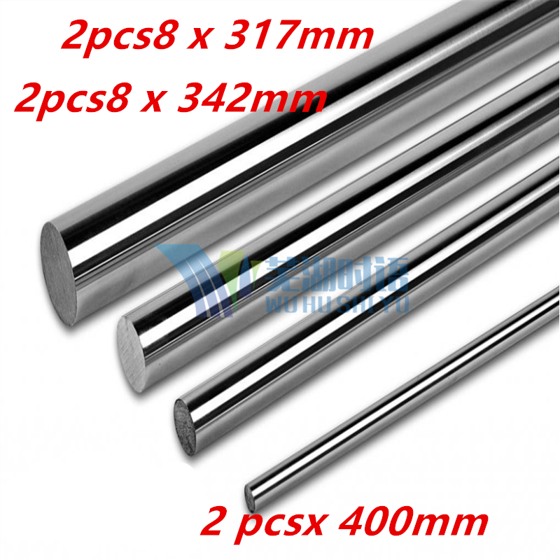 Graber i3 8mm smooth rod  linear rod set : 2 x 317mm ,2 x 342mm , 2 x 400mm  for 8mm linear shaft LM8UU 3D printer Graber i3 8mm linear shaft group 33pcs l350mm 33pcs l405mm 33pcs l420mm for 8mm rod shaft lm8uu