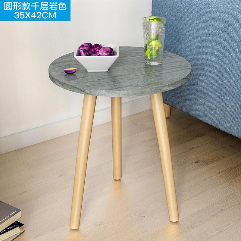 Скандинавский журнальный столик для гостиной, современный минималистичный чайный столик из твердой древесины, многофункциональный чайный столик - Цвет: Style 3