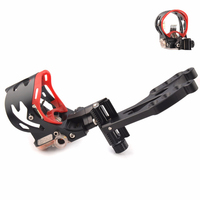1pc 5 Pin Compound Bow Sight with Sight Light and Bubble Level for Bow Archery Hunting Shooting Accessory