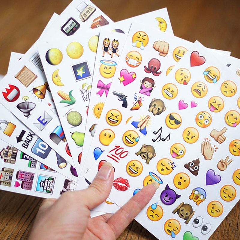 Cool Gadgets 4Pcs New Cute Lovely 48 Die Cut Emoji Smile Sticker For Notebook Message High Vinyl Funny Creative Free Shipping 1
