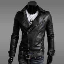 spring and autumn korean men's motorcycle leather jackets cultivate one's morality male garment leather coat men modern urban
