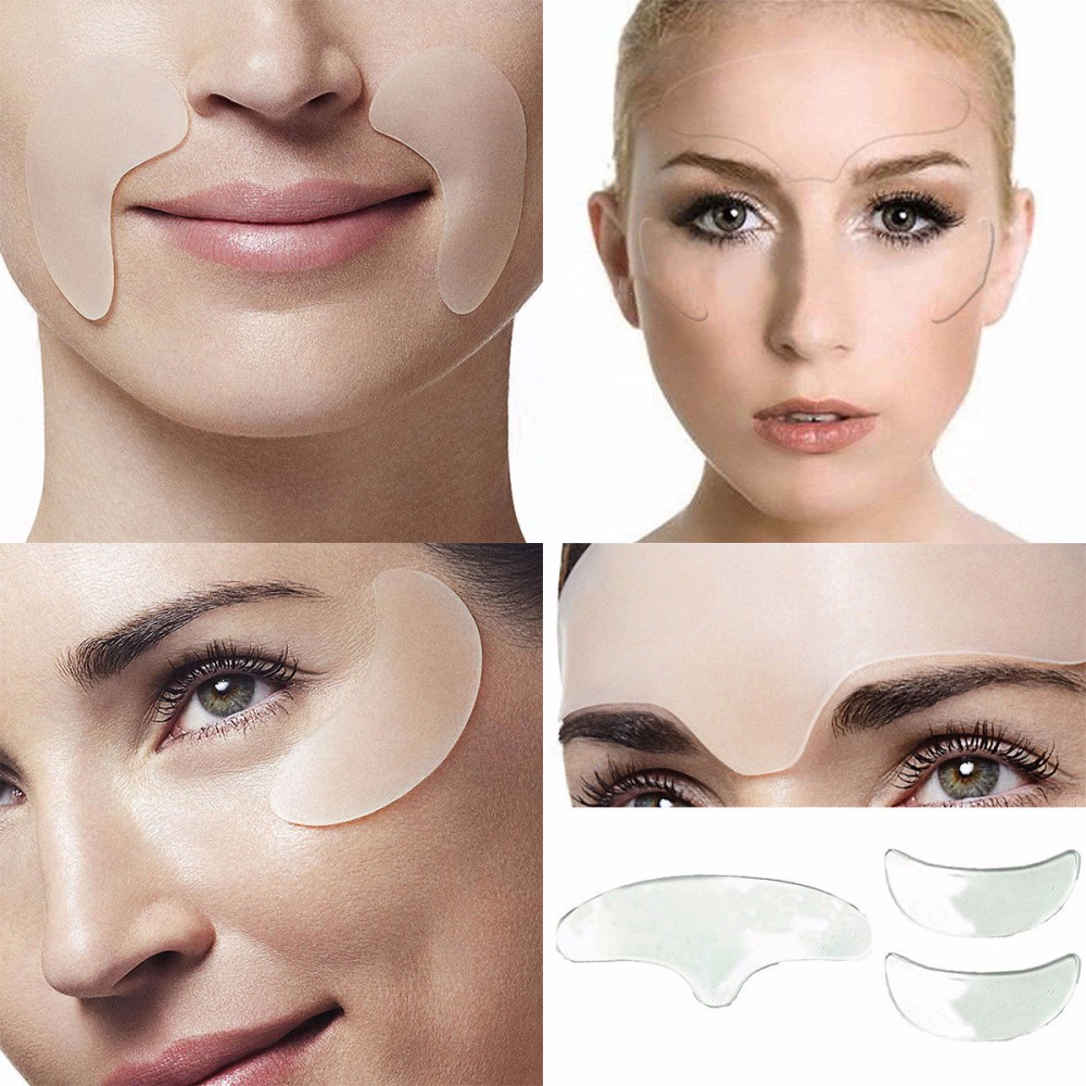 5Pcs Anti Wrinkle Eye Chin Forehead Skin Care Pads 100% Medical Grade Silicone Reusable Face Lifting Overnight Invisible Patches 1