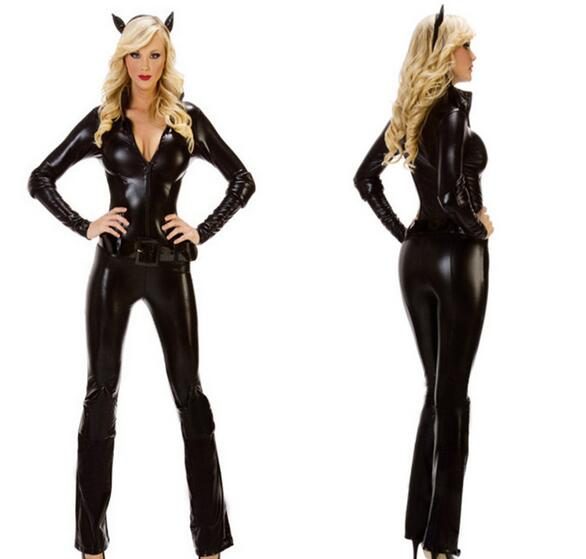 Sexy leather catwoman costume