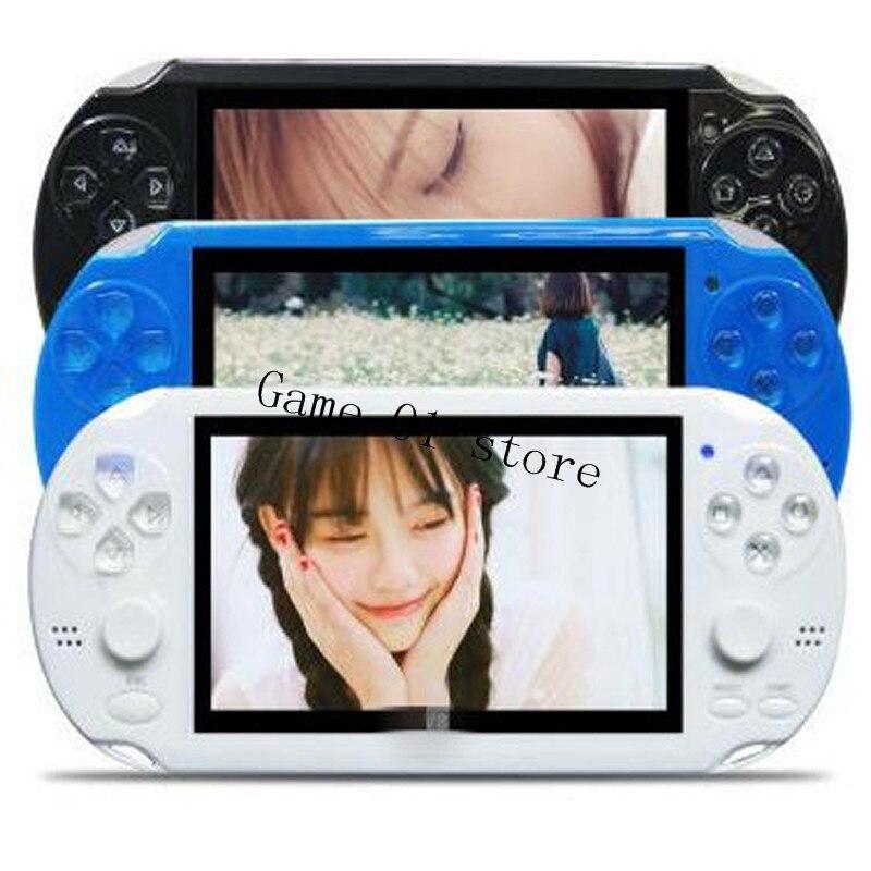 2019 Kostenloser Eingebaute 3000 Spiele Unterhaltungselektronik 8 Gb 4,3 Zoll Pmp Handheld-spiel-spieler Mp3 Mp4 Mp5 Player Video Fm Kamera Tragbare Spielkonsole