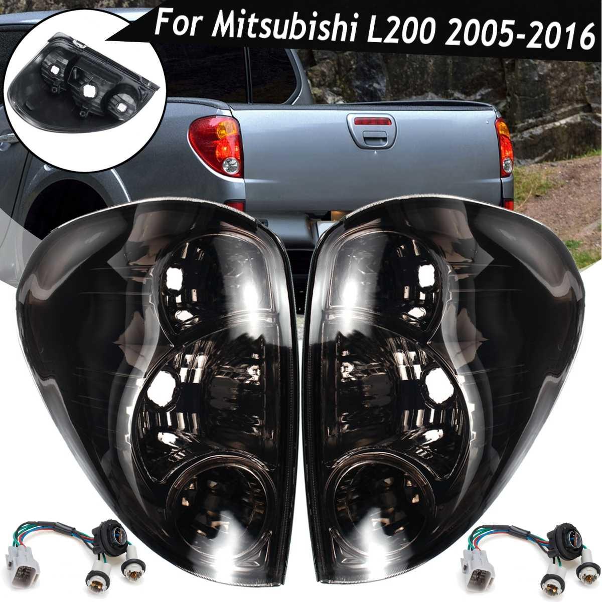 Smoke Taillight For Mitsubishi L200 Triton Colt Pickup 2005-2015 Tail Light Side Rear Brake Reverse Stop Lamp Car  Accessories