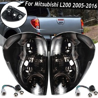 Smoke Taillight for Mitsubishi L200 Triton Colt Pickup 2005 2015 Tail Light Side Rear Brake Reverse Stop Lamp Car Accessories