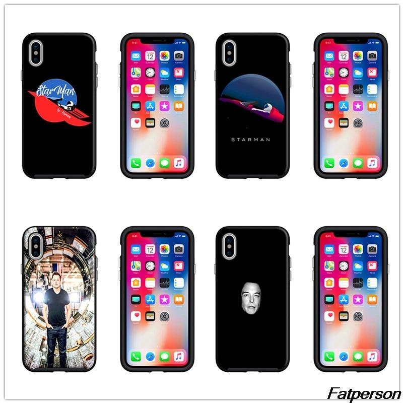 Elon Musk Black soft Silicone TPU Phone Case Cover Shell