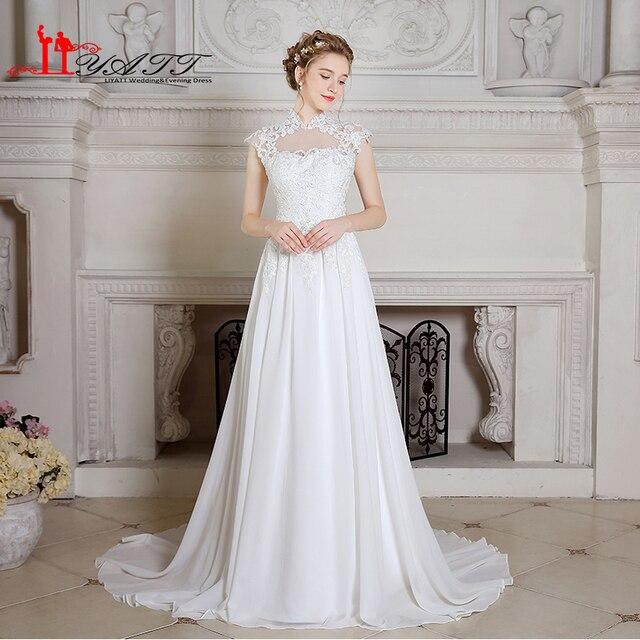 Echt Bild China Brautkleider Mädchen Weiß/Elfenbein Spitze Appliques ...
