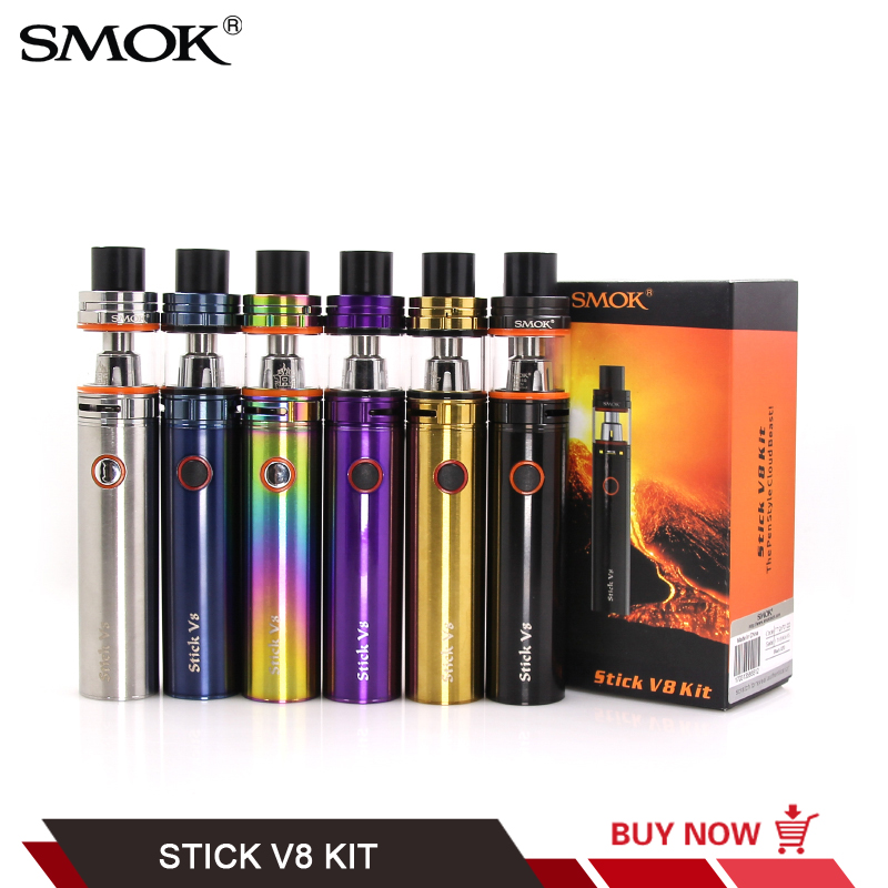 все цены на 100% Original Smok Stick V8 Starter Kit with TFV8 Big Baby Tank 3000mAh Stick V8 Battery VS Smoktech V8 Baby Vape Pen Plus Kit