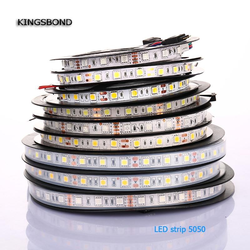 LED Strip 5050 Kit Flexible Ribbon Single Color 5 Meters 300 SMD 5050 (60LEDs/m)  Warm White Or Natural White IP20 IP65 IP67