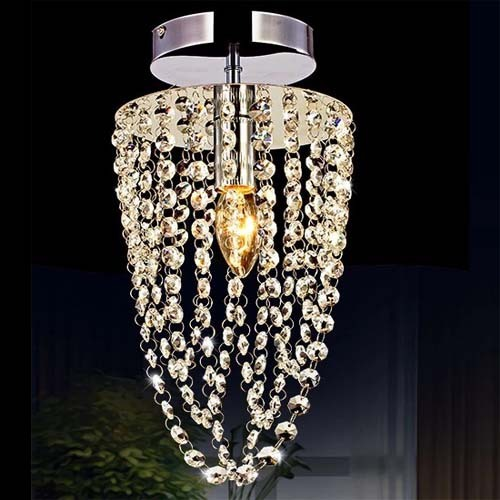 New Led K9 Crystal Ceiling Lights Led Lamps Living Room Led Ceiling lamps Lustre Light 110V / 220V E14 Bedroom Lighting WCL019