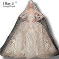 I Bahía U Magnífico del vestido de Bola Vestidos de Boda Para La Ceremonia Real fotos de Calidad Superior vestido de Novia de Encaje Elegante vestido de Bola Estilo Costom