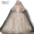 I Bay U Gorgeous Ball Gown Wedding Dresses For Ceremony Real Photos Top Quality Lace Wedding Gown Elegant Ball Gown Costom Style
