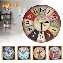ad1328c17 الرجعية ساعات الحائط الكوارتز ساعة غرفة المعيشة شنقا الجدار الديكور الحلي  ساعة الصامتة المنزل ديكو الرومانية