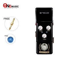 Joyo Ironman Mini Series JF 332 MOONBASE BASS Overdrive Effect Guitar Pedal Black With Gold Pedal Connector and Mooer Knob