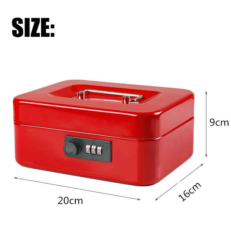 20CM*16CM*9CM Password Small Steel Safe Boxes With Lock Store Content Box Paper Piggy Small Change Bank Card Document Boxes